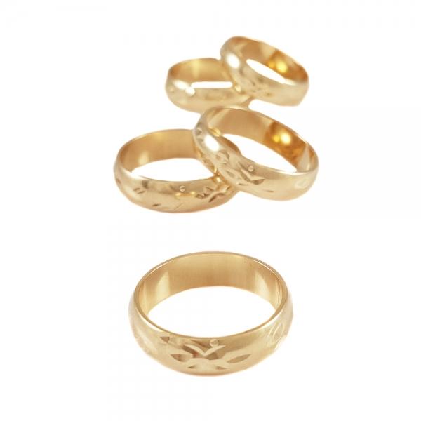 Inel placat cu aur SaraTremo 1