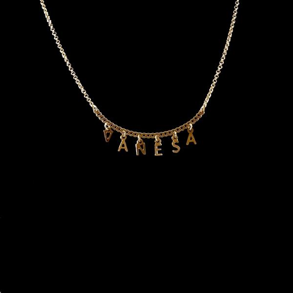 Colier personalizat placat cu aur SaraTremo 0