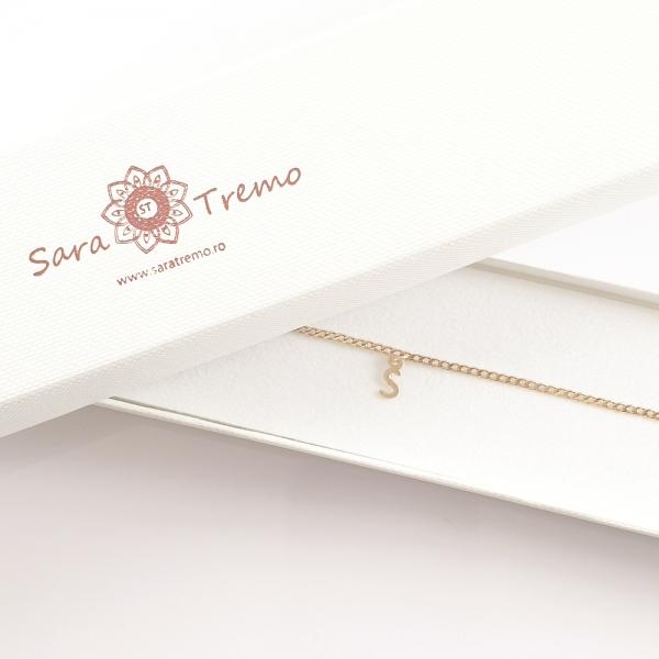 Bratara personalizata placata cu aur SaraTremo