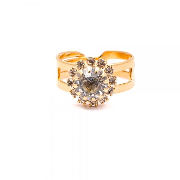 Inel placat cu aur 18 K Rock & Shine