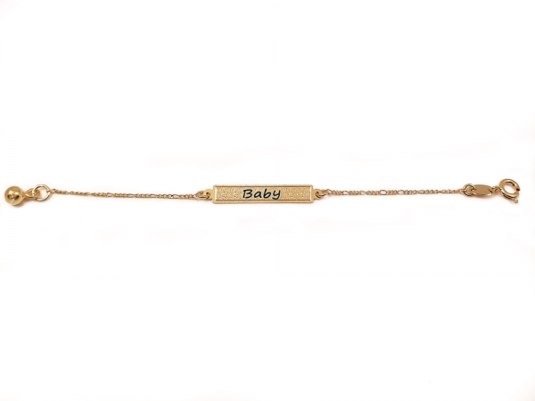 Bratara pentru copii placata cu aur SaraTremo