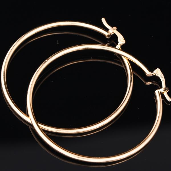 Cercei placati cu aur SaraTremo 4
