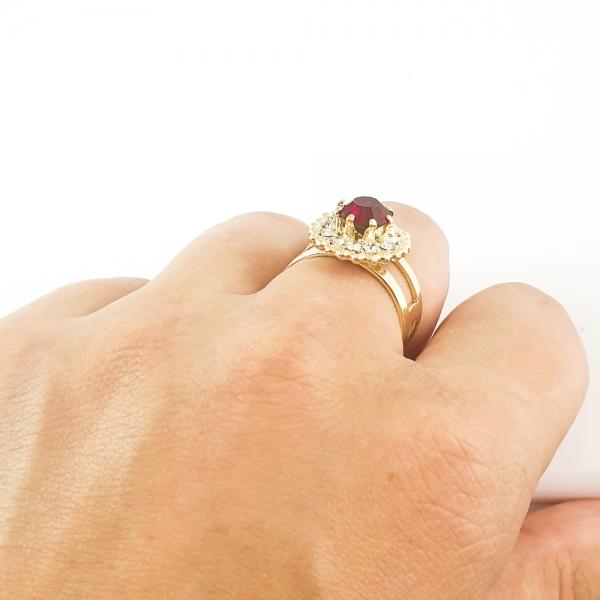 Inel placat cu aur SaraTremo 8