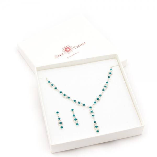 Set bijuterii cu strasuri Burning Trend by SaraTremo 3