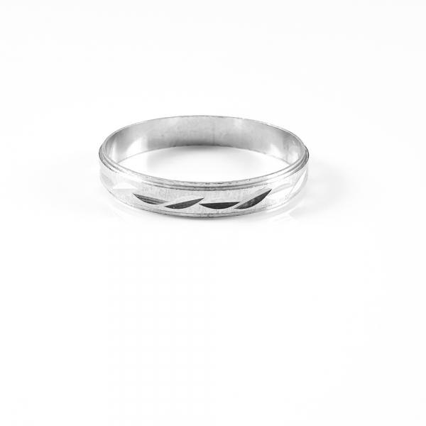 Inel tip verigheta din argint Sphere