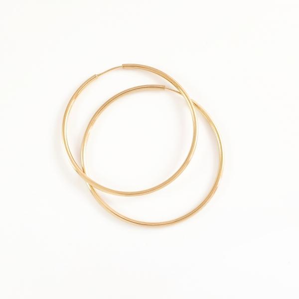 Creole 4.3 cm placate cu aur Mary Jo