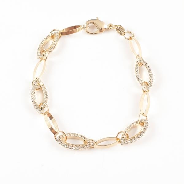 Bratara luxury 20 cm placata cu aur Single Design