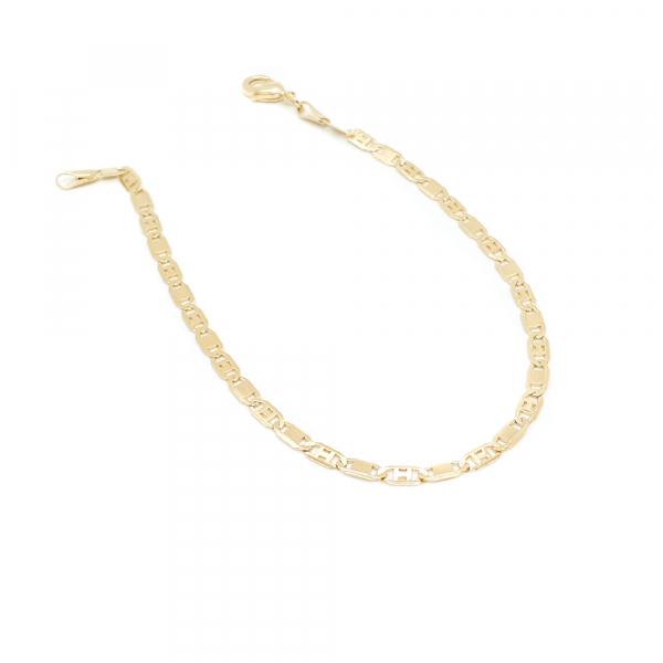 Bratara unisex 22 cm placata cu aur Guantanamera
