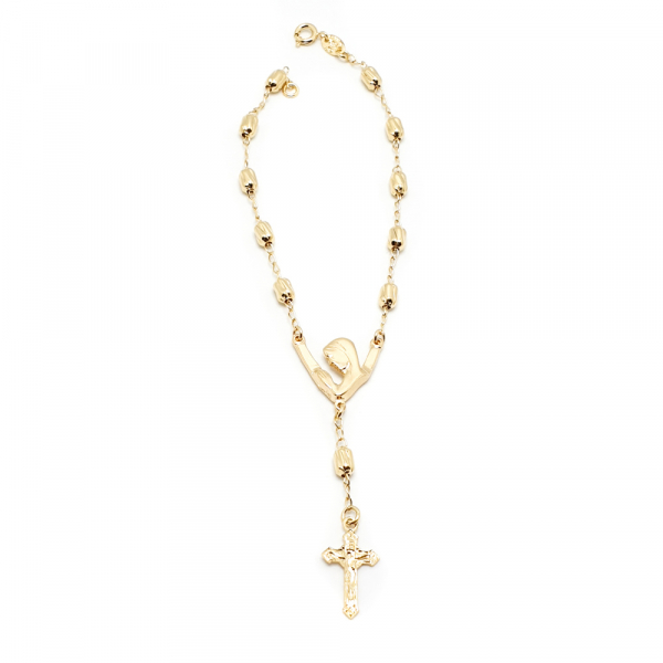 Bratara tip rosariu placata cu aur Priestess