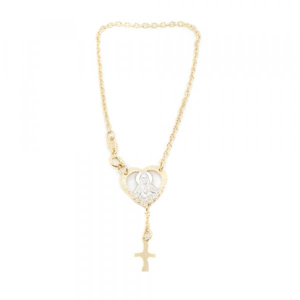 Bratara tip rosariu placata cu aur Floria