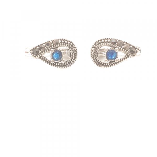 Cercei din argint Blue Eyes