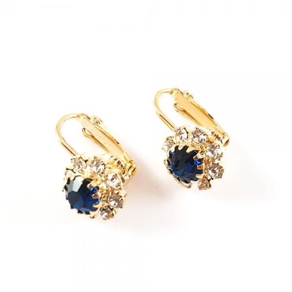 Cercei placati cu aur Blue