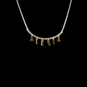 Colier personalizat cu orice nume placat cu aur