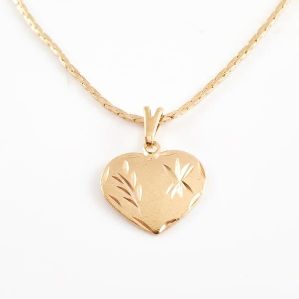 Colier placat cu aur Golden Heart