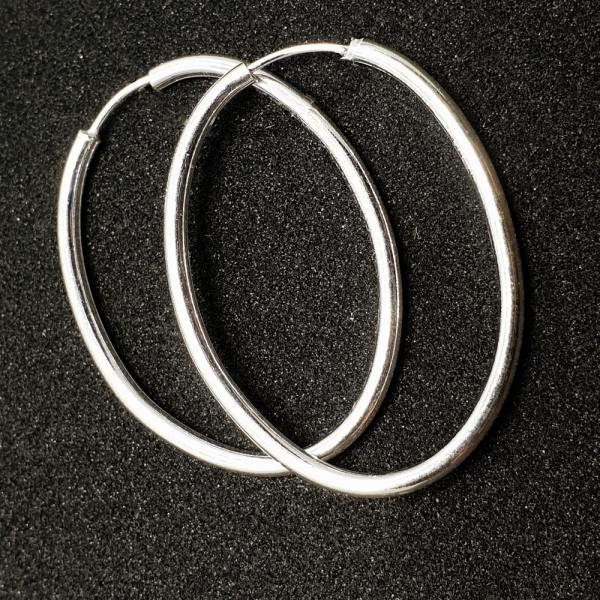 Creole ovale 2.2 cm Silver din argint