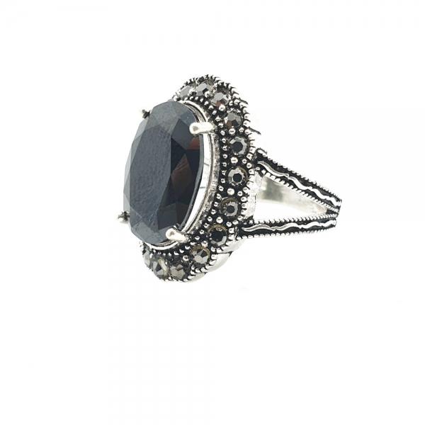 Inel din argint cu piatra Noir