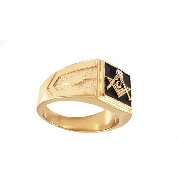Inel placat cu aur Invictus One