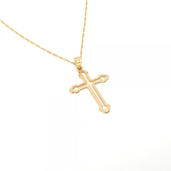 Lantisor si cruciulita placate cu aur Amen