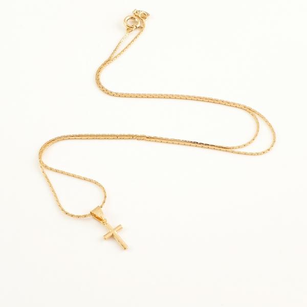 Lantisor si cruciulita placate cu aur Church
