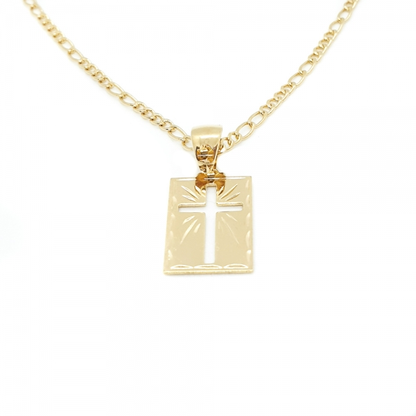 Lantisor si cruciulita placate cu aur Saint