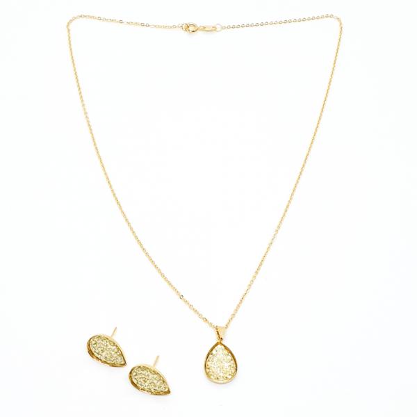 Set bijuterii placate cu aur Penelope