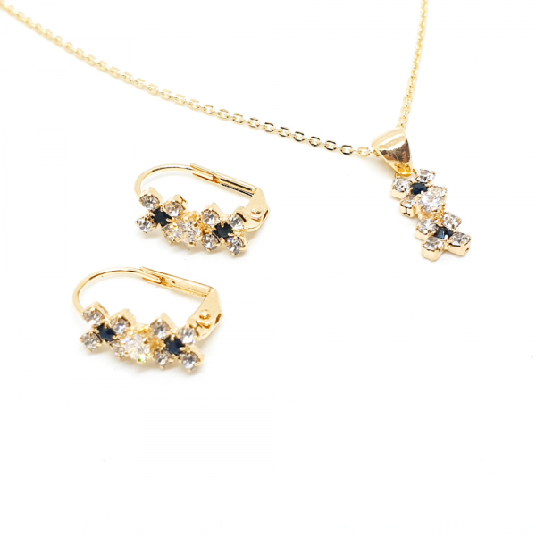 Set bijuterii placate cu aur Venus