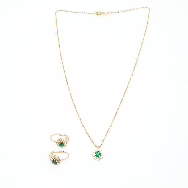 Set bijuterii placate cu aur Discretto